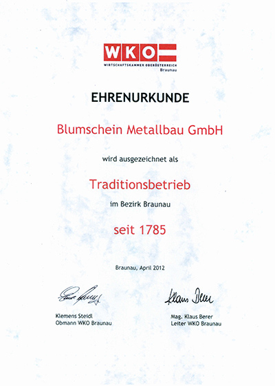 Blumschein-Traditionsbetrieb